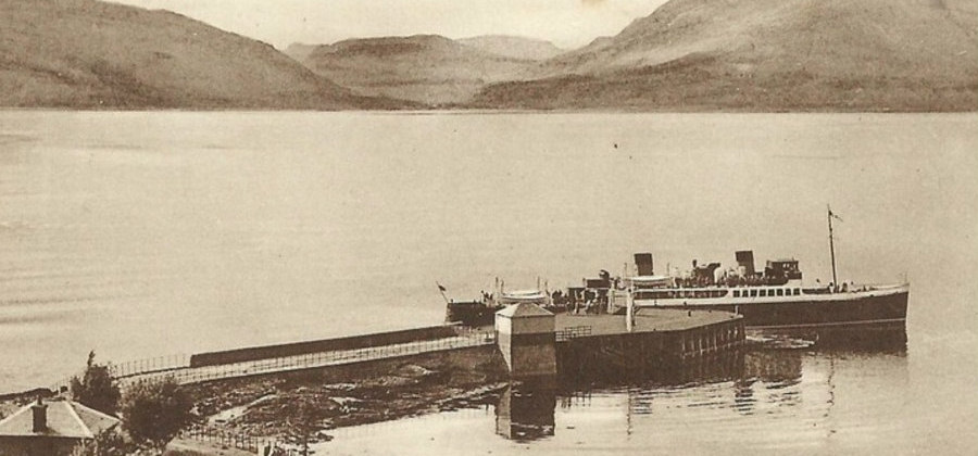 Steamer on Kentallen Pier